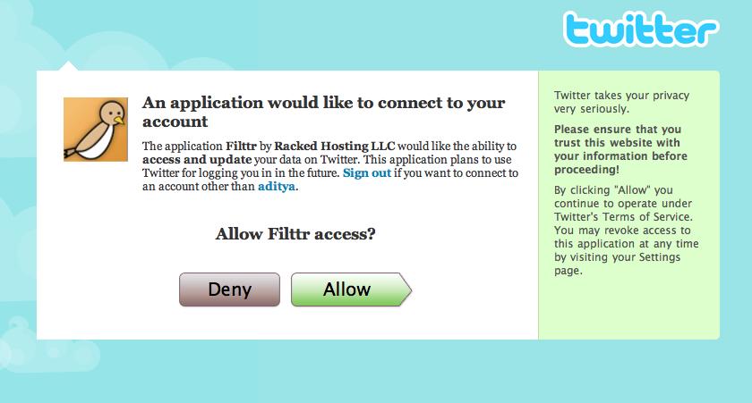 oAuth authorization